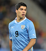 Football - World Cup Finals 2010 Uruguay v Ghana<br />     2/07/2010 1/4 Final Luis Suarez (Urg) <br /> @ Soccer City : Colorsport / Andrew Cowie