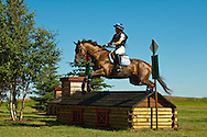 Eventing (equestrian triathlon), Cross Country event, The Event at Rebecca Farms, Kalispell, Montana, Carrie Miller, Danish Warmblood
