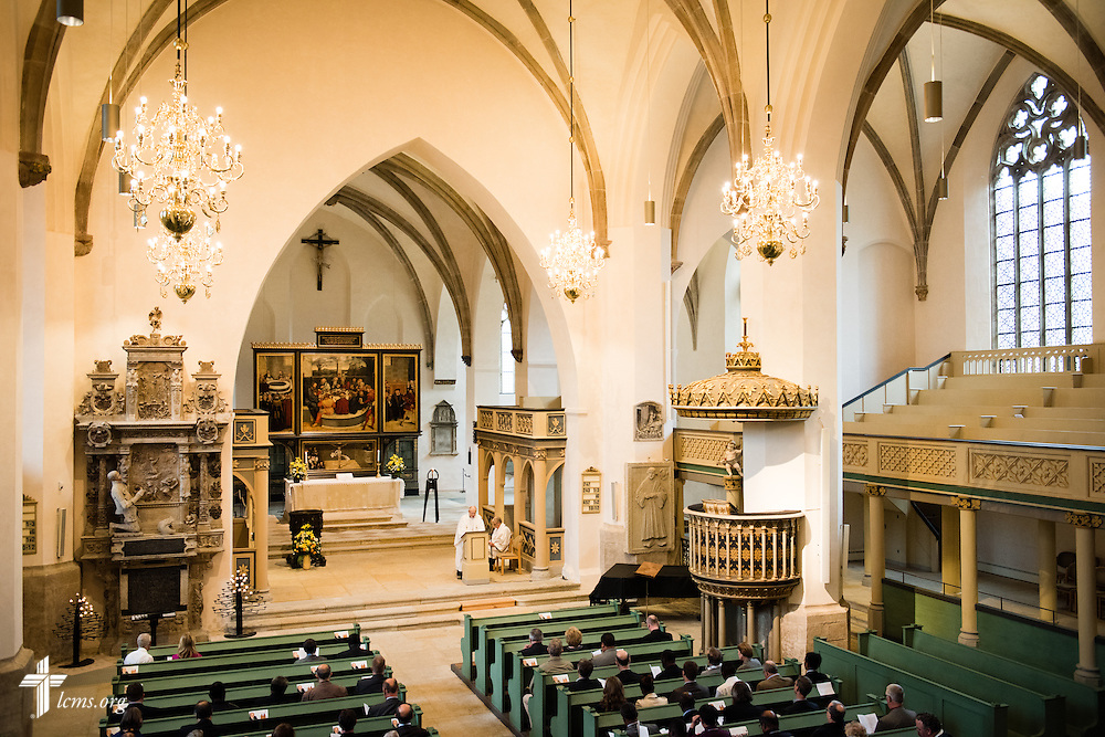 Worshippers gather for Matins at the Town and Parish Church of St. Mary's during the International Conference on Confessional Leadership in the 21st Century in Wittenberg, Germany. LCMS Communications/Erik M. Lunsford