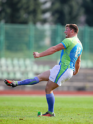 Frankie Skofic of Slovenia during rugby match between National team of Slovenia (green-blue) and Serbia (red-white) at EUROPEAN NATIONS CUP 2016-17, Conference 2, South, on October 29, 2016, at ZAK Stadium, Ljubljana, Slovenia. Photo by Matic Klansek Velej / Sportida