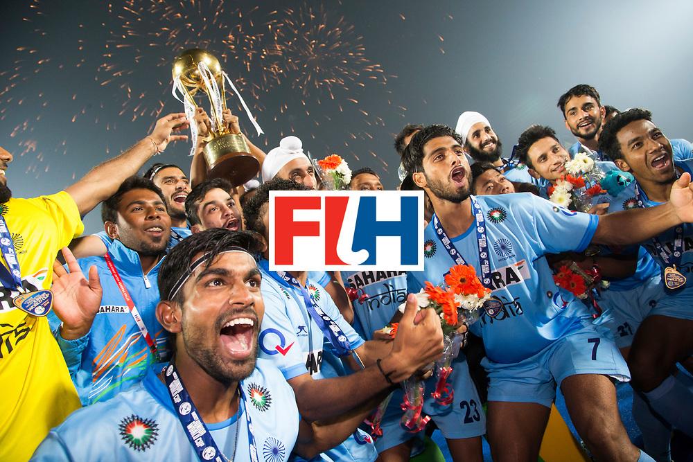 LUCKNOW (India) -   Junior World Cup hockey  U21 for men . final BELGIUM v INDIA. India is World Champion Juniors U21.  India celebrating the win.   COPYRIGHT  KOEN SUYK