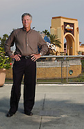 Tom Williams, Chairman and CEO, Universal Parks & Resorts, stands in front of the entrance to Universal Studios Orlando in Orlando, Florida.