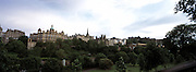 A panoramic view of Edinburgh,Scotland at dusk.