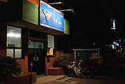 The night view of the Yeongdeungpo police station, Seoul.