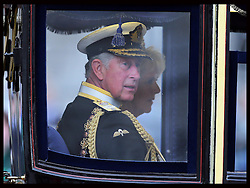 Prince Charles and Camilla arriving at the State Opening of Parliament in London, Wednesday, 8th May 2013.  Photo by: Stephen Lock / i-Images