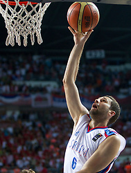 Aleksandar Rasic of Serbia during the second semifinal basketball match between National teams of Serbia and Turkey at 2010 FIBA World Championships on September 11, 2010 at the Sinan Erdem Dome in Istanbul, Turkey. Turkey defeated Serbia 83 - 82 and qualified to finals.  (Photo By Vid Ponikvar / Sportida.com)