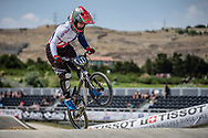 Women Elite #911 (SHRIEVER Bethany) GBR at the 2018 UCI BMX World Championships in Baku, Azerbaijan.