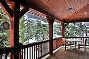 USA, Idaho, Tamarack Resort, Deck of the Flaherty Cabin (Property Release)