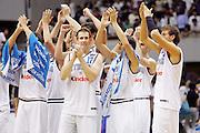 SAPPORO 24 AGOSTO 2006 <br /> BASKET CAMPIONATO MONDIALE 2006 <br /> ITALIA-PUERTO RICO <br /> NELLA FOTO: TEAM ITALIA ROCCA <br /> FOTO: CIAMILLO-LAPRESSE