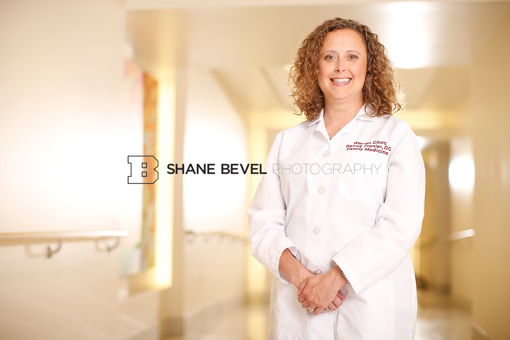 5/28/15 4:15:04 PM -- Dr. Renee Frenier of Saint Francis Health System poses for a portrait for the 2015 Advertising Campaign. <br /> <br /> Photo by Shane Bevel