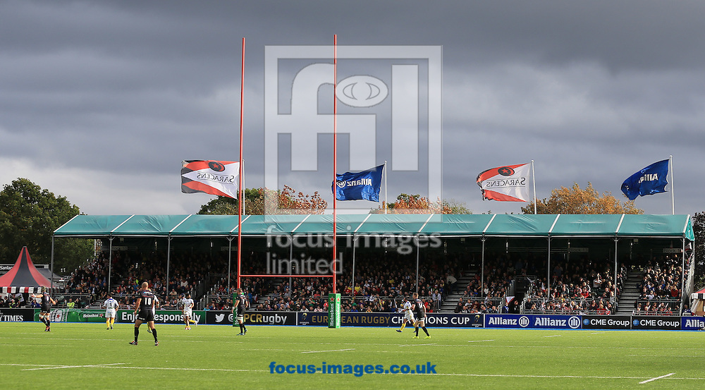 European Rugby Champions Cup match at Allianz Park, London<br /> Picture by Michael Whitefoot/Focus Images Ltd 07969 898192<br /> 18/10/2014