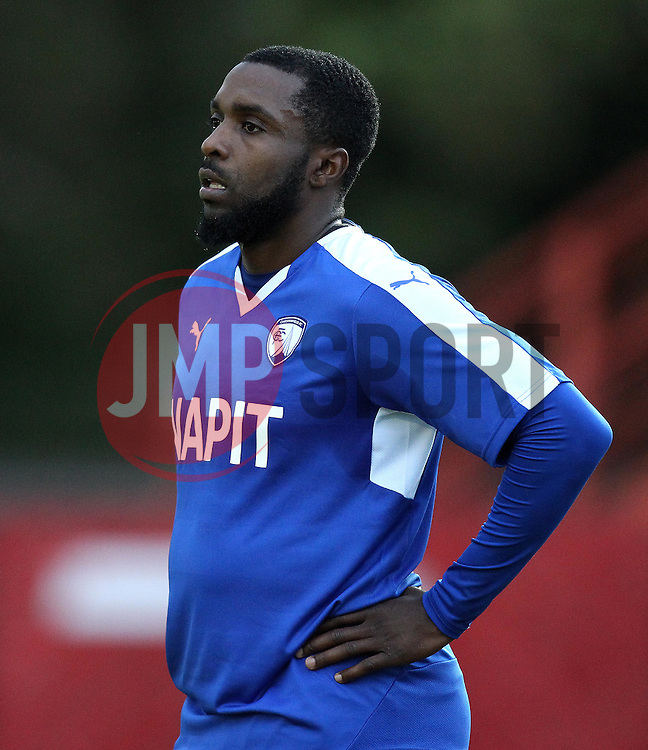 Chesterfield's Sylvan Ebanks-Blake - Mandatory by-line: Robbie Stephenson/JMP - 07966386802 - 28/07/2015 - SPORT - FOOTBALL - Ilkeston,England - New Manor Ground - Ilkeston FC v Chesterfield FC - Pre-Season Friendly