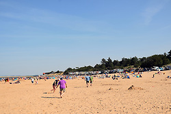 Holkham Bay beach, North Norfolk, UK August 2018