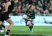 Faf de Klerk of South Africa during the Rugby Championship match between the New Zealand All Blacks & South Africa at Westpac Stadium, Wellington on Saturday 27th July 2019. Copyright Photo: Grant Down / www.Photosport.nz