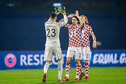 Sime Vrsaljko of Croatia during the football match between National teams of Croatia and Greece in First leg of Playoff Round of European Qualifiers for the FIFA World Cup Russia 2018, on November 9, 2017 in Stadion Maksimir, Zagreb, Croatia. Photo by Ziga Zupan / Sportida