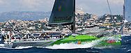 Desafio sailing at speed during Race 4 of the AUDI Medcup in Marseilles