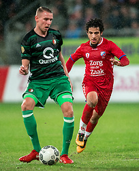 24-01-2018 NED: FC Utrecht - Feyenoord, Utrecht<br /> Utrecht speelt 1-1 gelijk tegen Feyenoord / Feyenoord defender Sven van Beek #3, FC Utrecht midfielder Yassin Ayoub #8