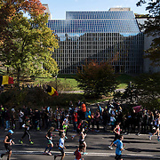 NYTRUN - NOV. 6, 2016 - NEW YORK - Runners head south, past the Metropolitan Museum of Art, on East Drive in Central Park  as they participate in the 2016 TCS New York City Marathon on Sunday afteroon. NYTCREDIT:  Karsten Moran for The New York Times