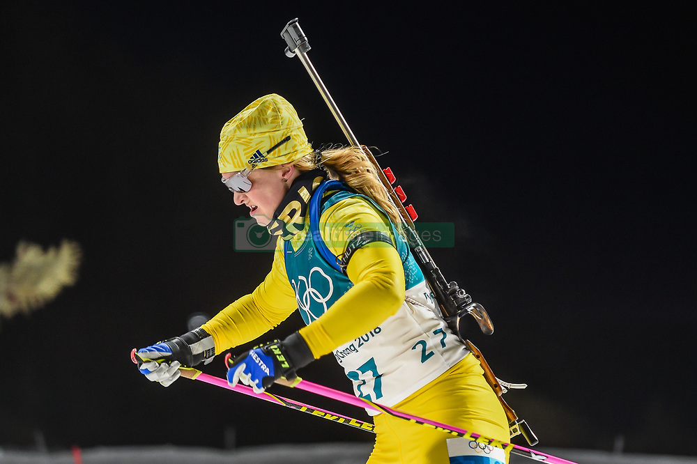 February 12, 2018 - Pyeongchang, Gangwon, South Korea - Mona Brorsson of Sweden  competing at Women's 10km Pursuit, Biathlon, at olympics at Alpensia biathlon stadium, Pyeongchang, South Korea. on February 12, 2018. Ulrik Pedersen/Nurphoto  (Credit Image: © Ulrik Pedersen/NurPhoto via ZUMA Press)