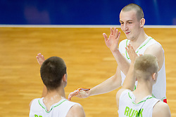 Jure Besedic of Slovenia during basketball match between National teams of Slovenia and Lithuania in Preliminary Round of U20 Men European Championship Slovenia 2012, on July 14, 2012 in Domzale, Slovenia. Slovenia defeated Lithuania 87-81. (Photo by Vid Ponikvar / Sportida.com)