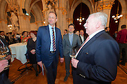 Vienna, Austria. Cocktail reception hosted by Mayor Michael Häupl at City Hall for international scientists and researchers living and working in Vienna.<br /> Michael Häupl, Mayor of Vienna (r.), Andreas Mailath-Pokorny, Executive City Councillor for Cultural Affairs and Science (l.)