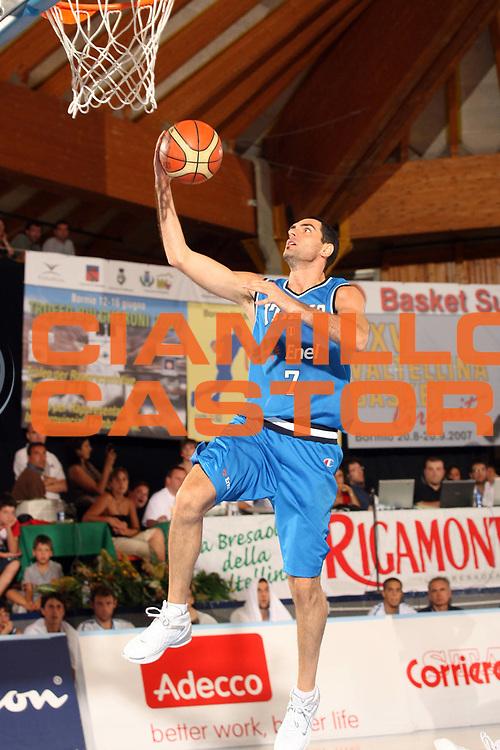 DESCRIZIONE : Bormio Torneo Internazionale Gianatti Finale Italia Croazia <br /> GIOCATORE : Matteo Soragna<br /> SQUADRA : Nazionale Italia Uomini <br /> EVENTO : Bormio Torneo Internazionale Gianatti <br /> GARA : Italia Croazia<br /> DATA : 04/08/2007 <br /> CATEGORIA : Tiro<br /> SPORT : Pallacanestro <br /> AUTORE : Agenzia Ciamillo-Castoria/G.Cottini<br /> Galleria : Fip Nazionali 2007 <br /> Fotonotizia : Bormio Torneo Internazionale Gianatti Finale Italia Croazia<br /> Predefinita :