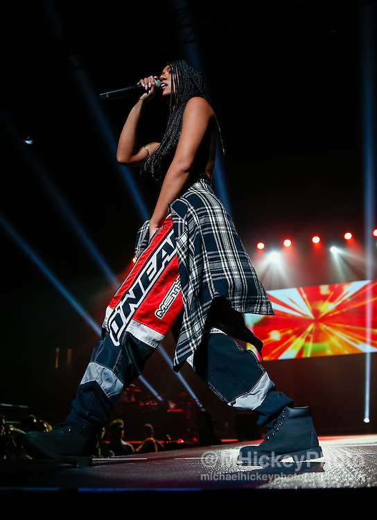INDIANAPOLIS, IN - DECEMBER 04: Mila J performs during 2016 Santa Slam Concert at Indiana Farmers Coliseum on December 4, 2016 in Indianapolis, Indiana. (Photo by Michael Hickey/Getty Images) *** Local Caption *** Mila J