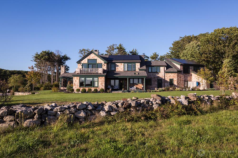 Exterior, Net Zero Home, Rye, NH<br /> Client: Eco Sound Builders