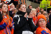 Ålesund 20110516. Publikum jubler under eliteseriekampen i fotball mellom Aalesund og Strømsgodset på Color Line Stadion i Ålesund mandag kveld.<br /> Foto: Svein Ove Ekornesvåg