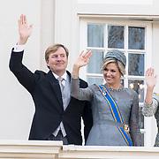 NLD/Den Haag/20170919 - Prinsjesdag 2017, Koningin Willem Alexander en Konigin Maxima met Prinses Laurentien