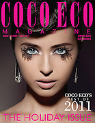 CocoEco November 2011 Cover shot, Beauty Paper Lashes story