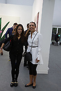 SANDRA SORIANO; PRINCESS ALIA AL-SENUSSI, The VIP preview of Frieze. Regent's Park. London. 16 October 2013