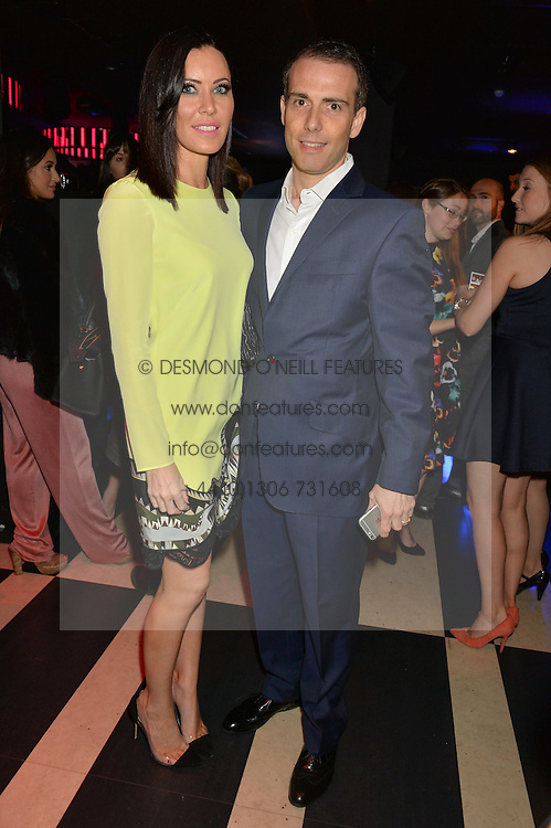 LINZI STOPPARD and WILL STOPPARD at a party to celebrate the 1st anniversary of Hello! Fashion Monthly magazine held at Charlie, 15 Berkeley Street, London on 14th October 2015.