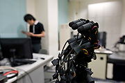 Photo shows  one of the robotic hands developed at Ishikawa-Oku lab at the University of Tokyo, Tokyo, Japan. Photographer: Robert Gilhooly