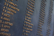 British soldiers who died during the Korean War are listed on commemorative plaques at the National War Museum in Seoul, South Korea on 23 June, 2010..