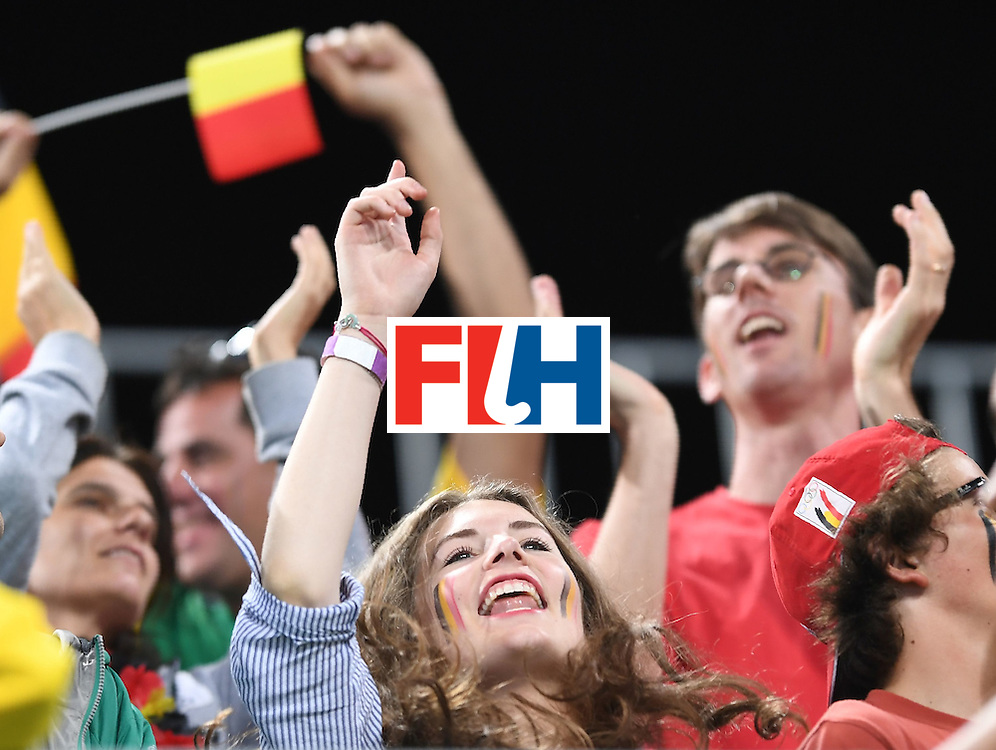 Germany fans cheer during the men's field hockey Brazil vs Belgium match of the Rio 2016 Olympics Games at the Olympic Hockey Centre in Rio de Janeiro on August, 7 2016. / AFP / MANAN VATSYAYANA        (Photo credit should read MANAN VATSYAYANA/AFP/Getty Images)