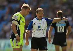 Referee JP Doyle awards Wasps a penalty - Mandatory by-line: Paul Roberts/JMP - 02/09/2017 - RUGBY - Ricoh Arena - Coventry, England - Wasps v Sale Sharks - Aviva Premiership