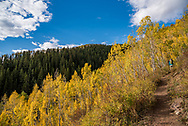 Hiking on the American Lake trail in Aspen, Colorado.