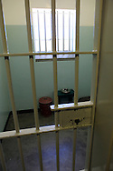 Nelson Mandella's cell on Robben Island The island where he was held prisoner near Cape Town, South Africa.  Photo by Dennis Brack...