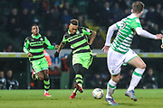Forest Green Rovers Keanu Marsh-Brown(7) passes the ball during the EFL Trophy 3rd round match between Yeovil Town and Forest Green Rovers at Huish Park, Yeovil, England on 9 January 2018. Photo by Shane Healey.