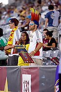 August 4, 2012:Real Salt Lake fans supporting their team in a 0-1 loss to the Colorado Rapids at Dick's Sporting Goods Park in Denver, Colorado