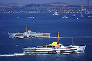 Boats on the Bosphorus