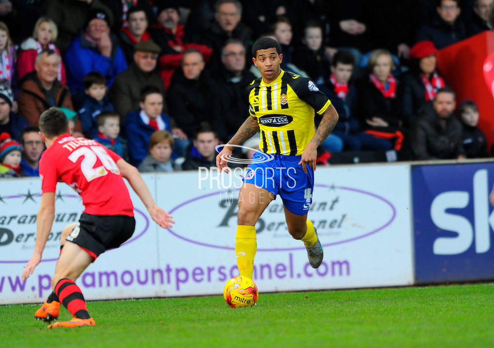 Dagenham & Redbridge's Joss Labadie during the Sky Bet League 2 match between Exeter City and Dagenham and Redbridge at St James' Park, Exeter, England on 2 January 2016. Photo by Graham Hunt.