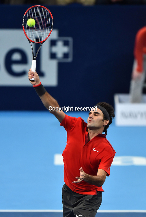 23.10.2014, Basel, Switzerland. Swiss indoor ATP tennis championships.  Roger Federer (SUI)