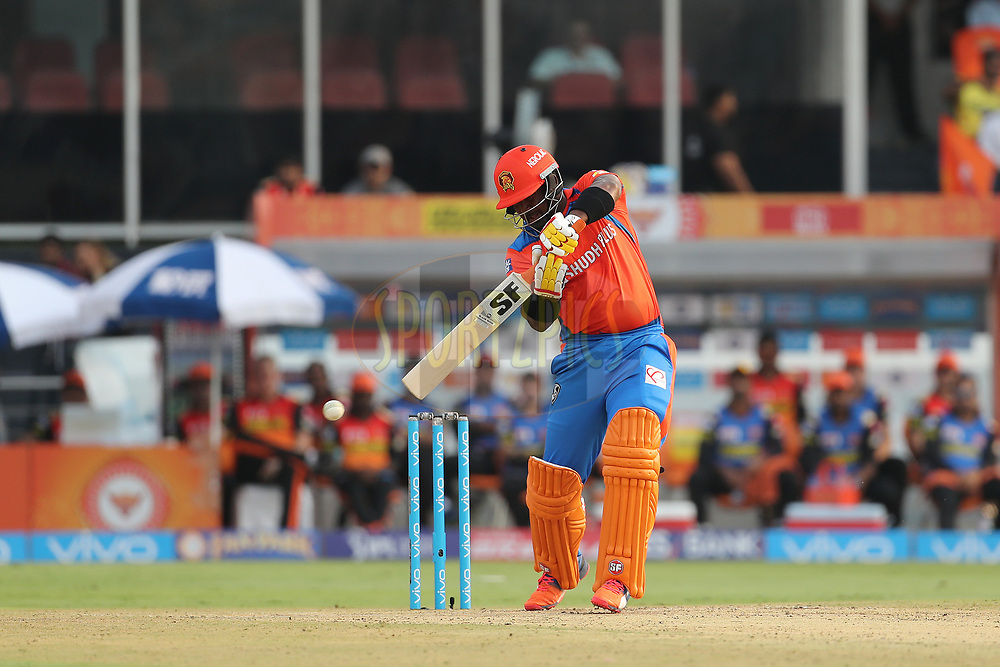 Dwayne Smith of the Gujarat Lions during match 6 of the Vivo 2017 Indian Premier League between the Sunrisers Hyderabad and the Gujarat Lions held at the Rajiv Gandhi International Cricket Stadium in Hyderabad, India on the 9th April 2017<br /> <br /> Photo by Ron Gaunt - IPL - Sportzpics