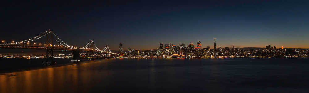 The San Francisco City Skyline lit up during game 4 of the 2012 World Series between the SF Giants and the Detroit Tigers