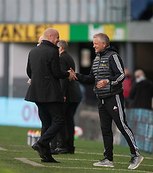 Burnley manager Sean Dyche (L) and Sheffield United manager Chris Wilder - Mandatory by-line: Jack Phillips/JMP - 05/07/2020 - FOOTBALL - Turf Moor - Burnley, England - Burnley v Sheffield United - English Premier League