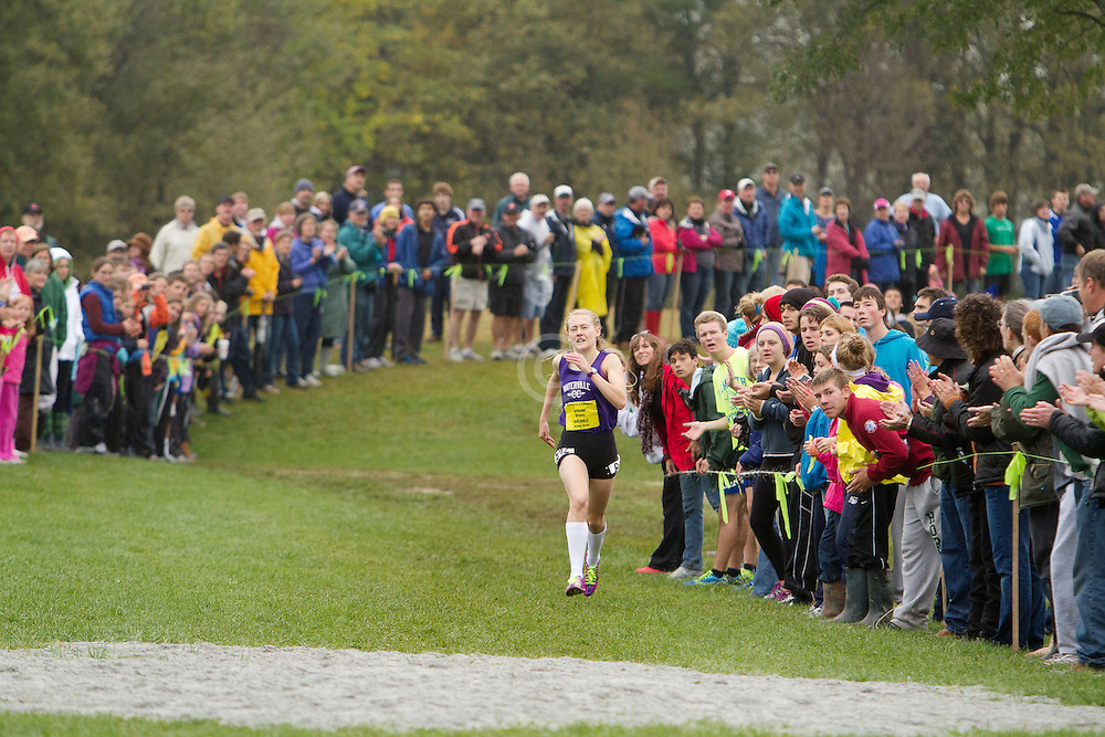 Festival of Champions High School Cross Country meet, Bethanie Brown, Waterville, wins girls seeded race