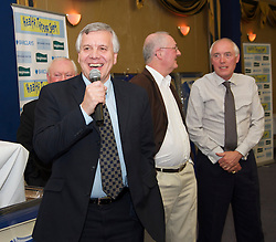 LIVERPOOL, ENGLAND - Friday, May 7, 2010: Liverpool Echo reporter Ken Rogers with BBC Radio Merseyside's John Keith, Alan Jackson and Charlie Lambert during an Everton Charity Dinner to support Health Through Sport. (Pic by: David Rawcliffe/Propaganda)