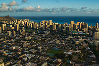 Waikiki Skyline & Moilili Neighborhood (foreground)